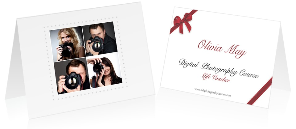 Photography Gift Vouchers for Christmas