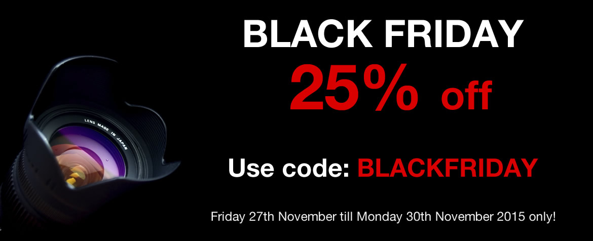 Black Friday Super Sale - 25% off all Photography Courses and Gift Vouchers