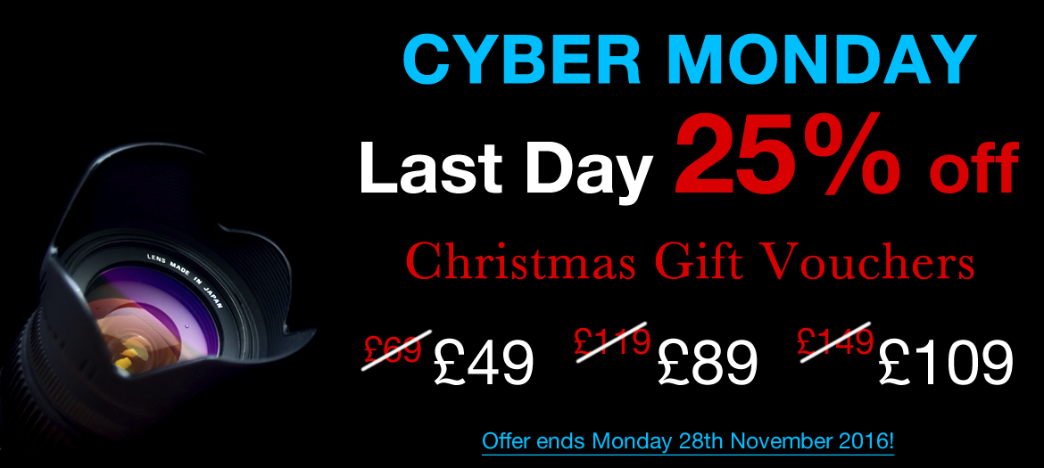 Cyber Monday Super Sale - 25% off all Photography Courses and Gift Vouchers
