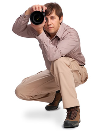 student on beginners dslr photography course