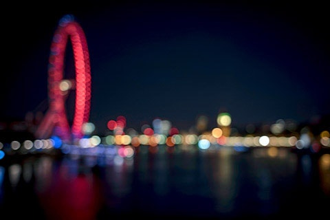 creative bokeh art photography course London Eye and Westminster