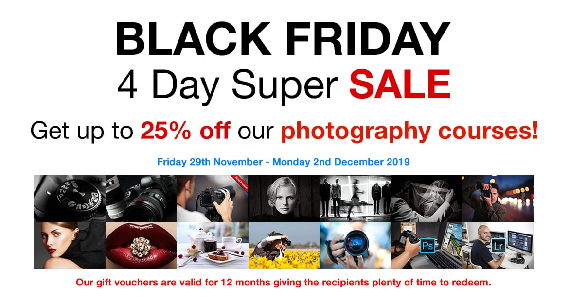 Black Friday SALE 2019 photography courses London