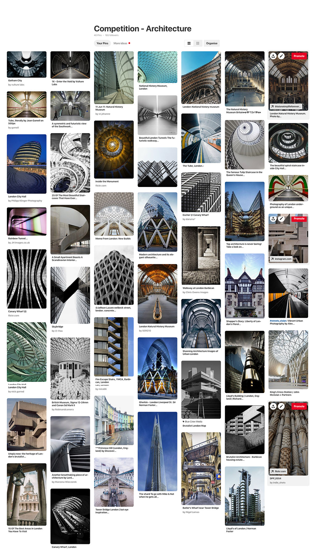 Pinterest board London architecture