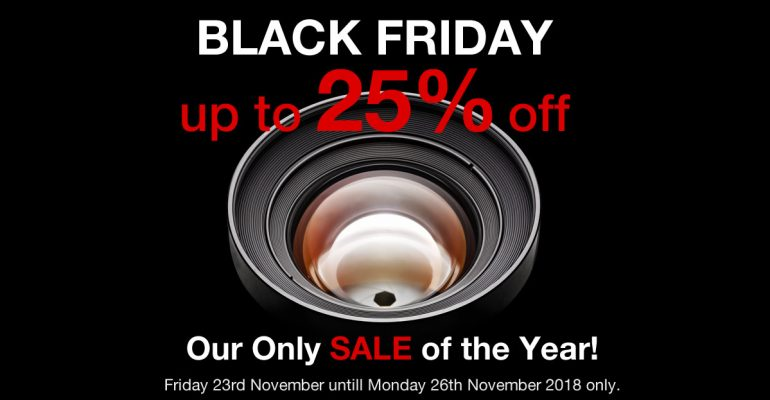 Photography Courses Black Friday sale 2018 - get up to 25% off