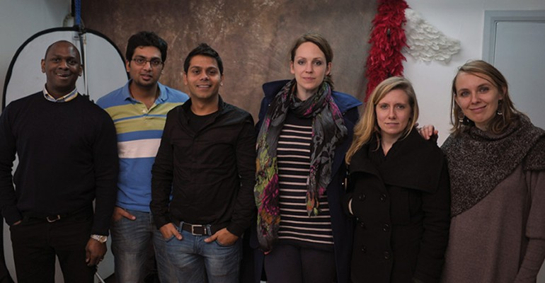Attendees of intensive dslr photography course in London on the 29th December 2012
