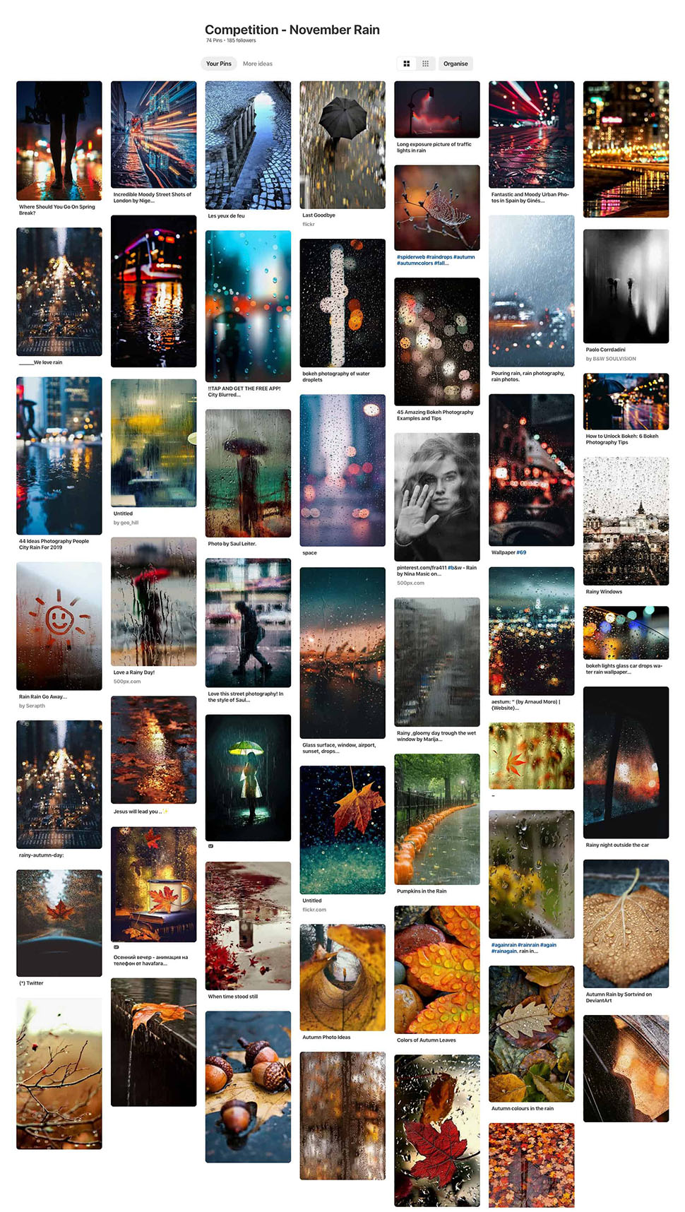 November rain photography competition Pinterest