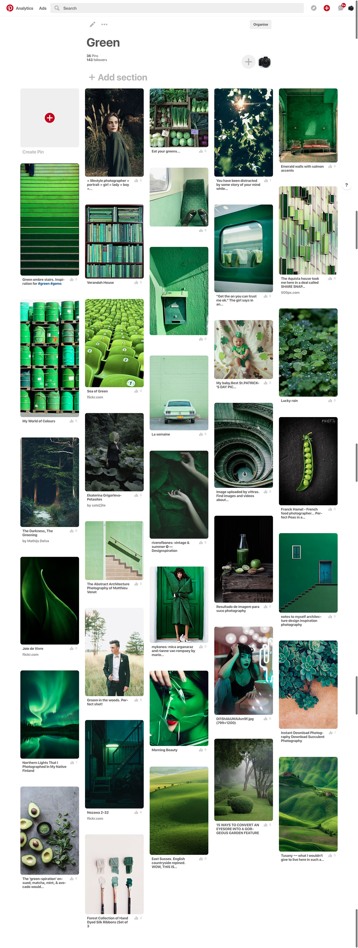 pinterest green competition