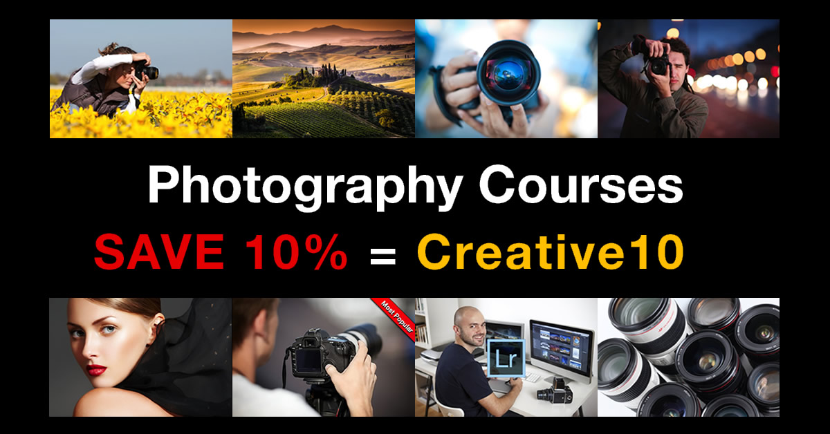 save 10% on photography courses in September 2019